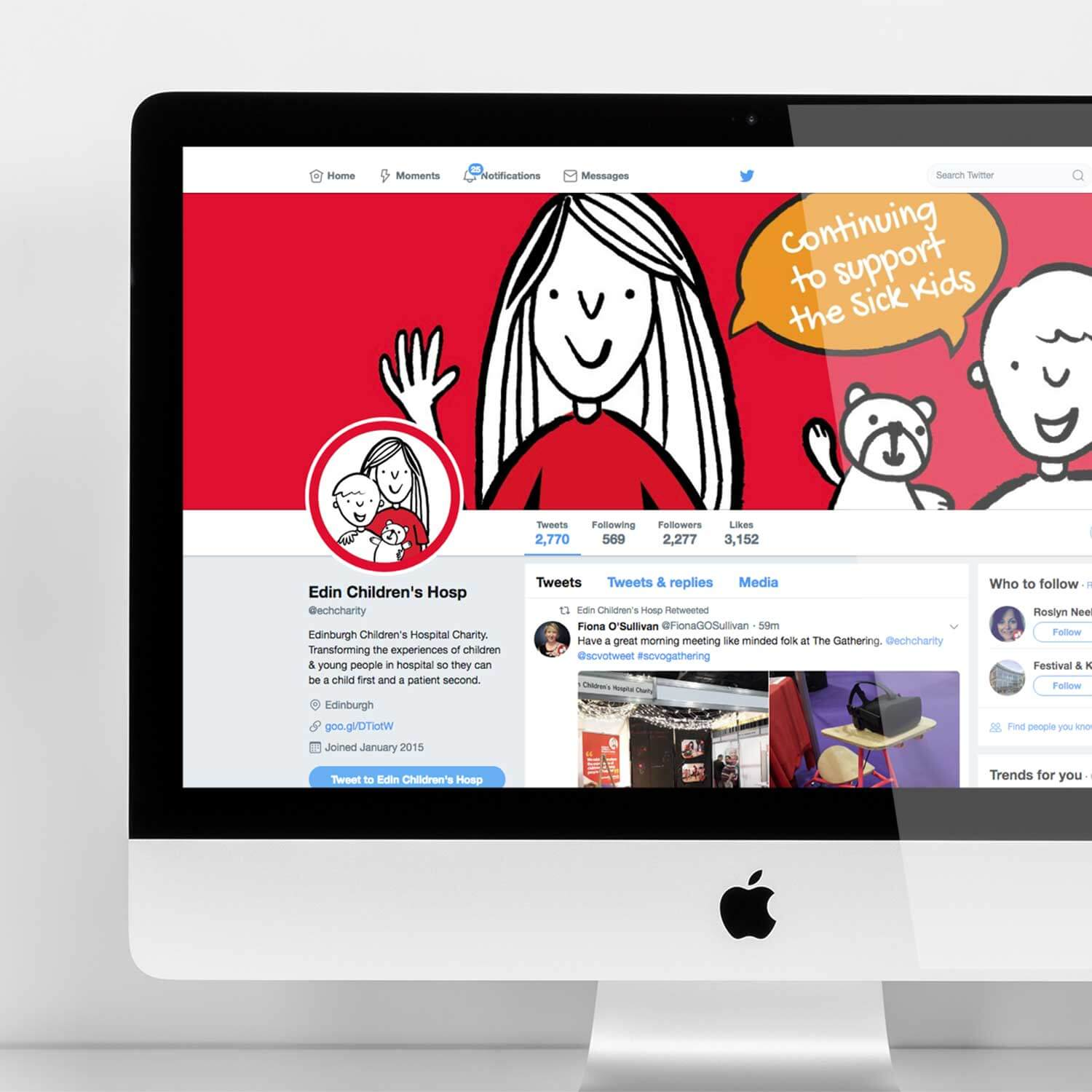 Branded social media visual for third sector marketing project
