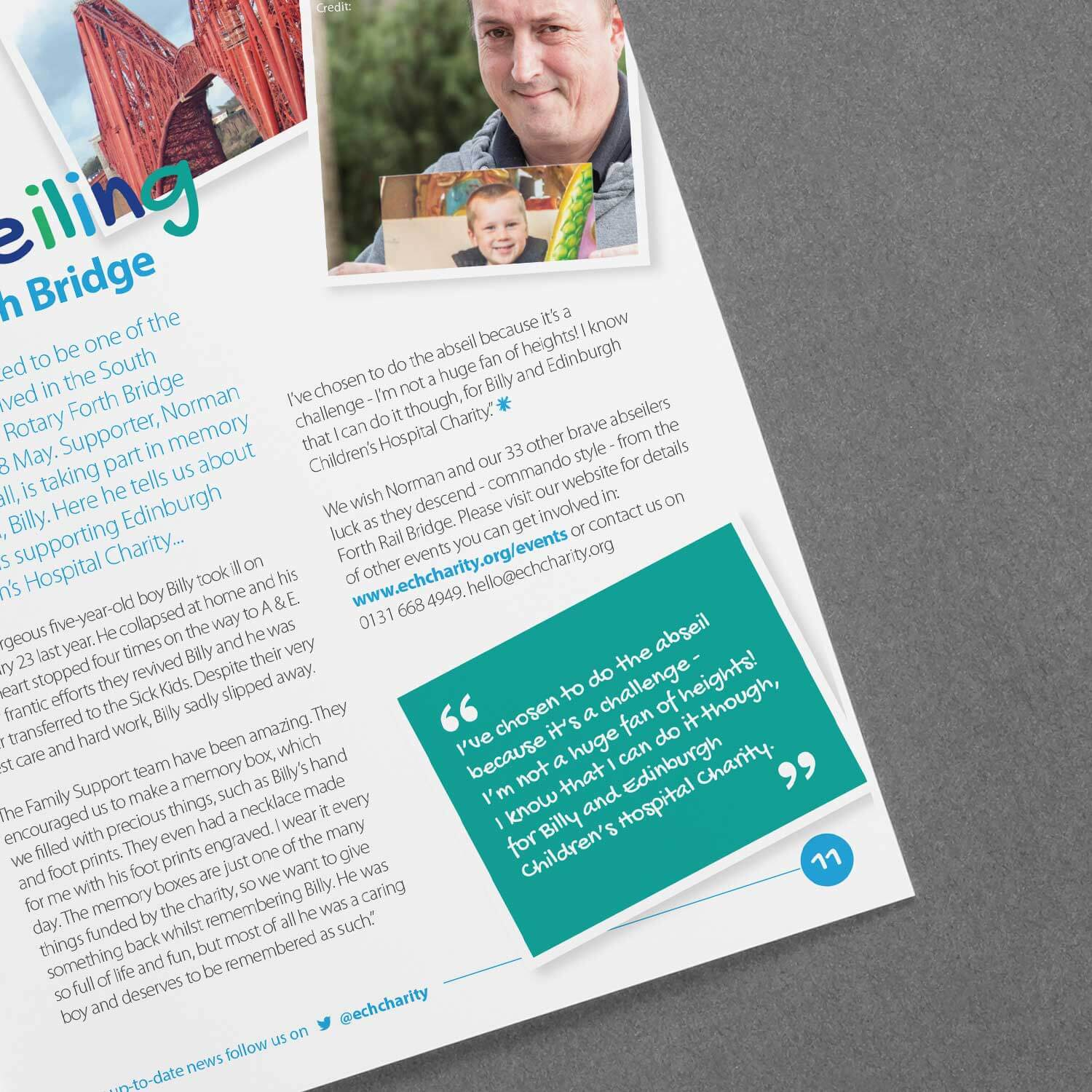 Members magazine design example for third sector marketing project