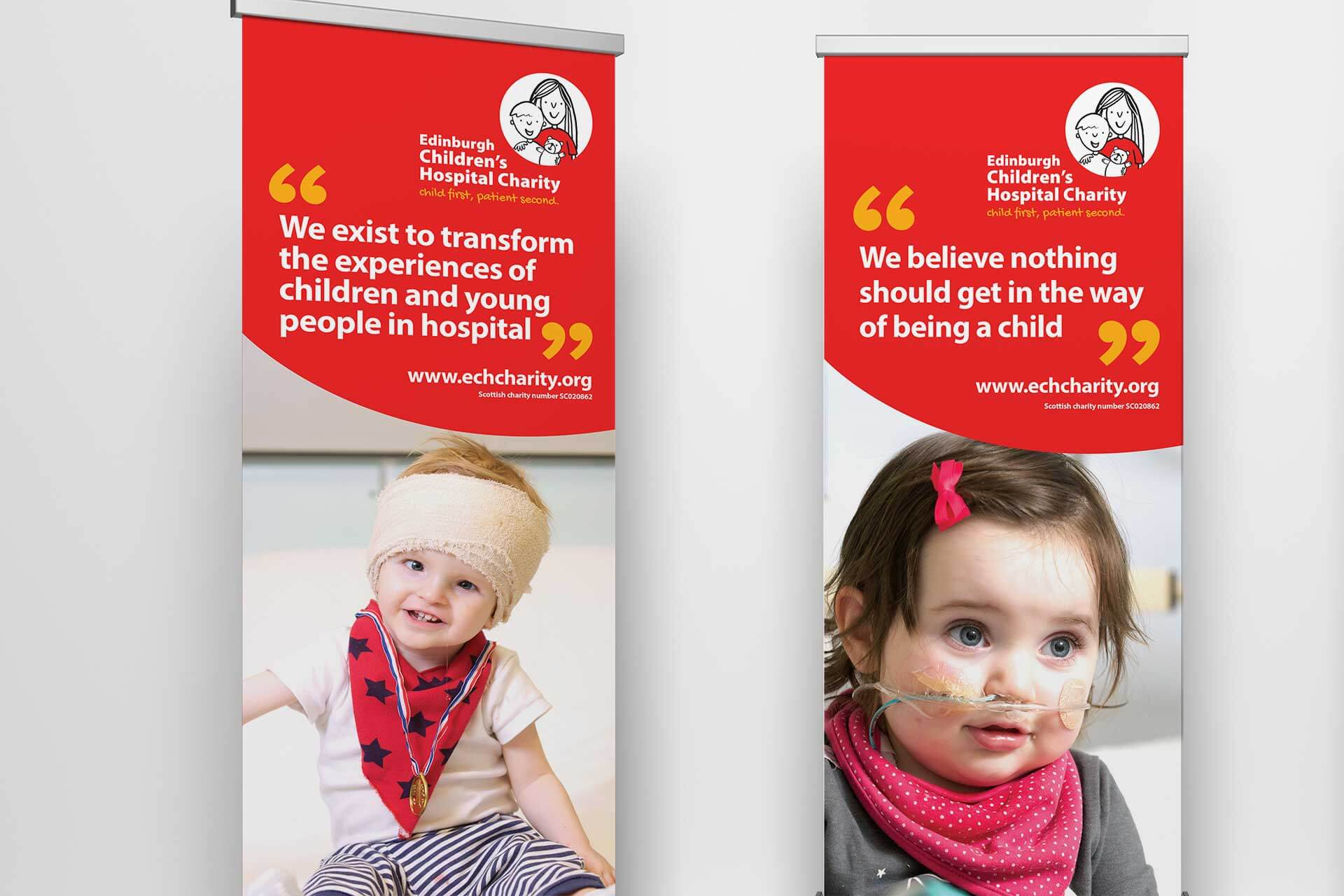 Exhibition banner design for third sector marketing project