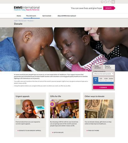 EMMS' new website achieves 10 fold boost in online donations