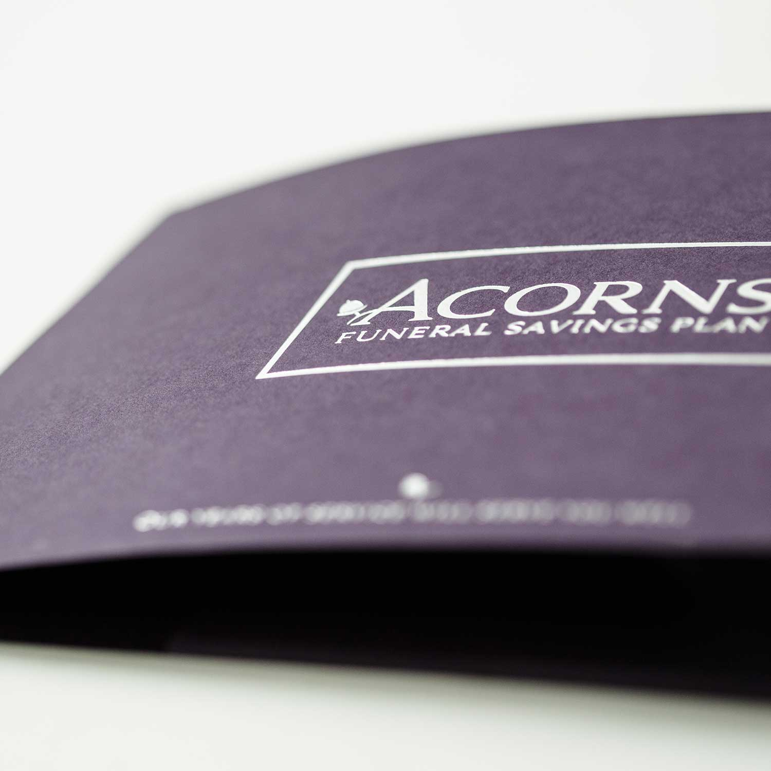Print design example for funeral industry marketing