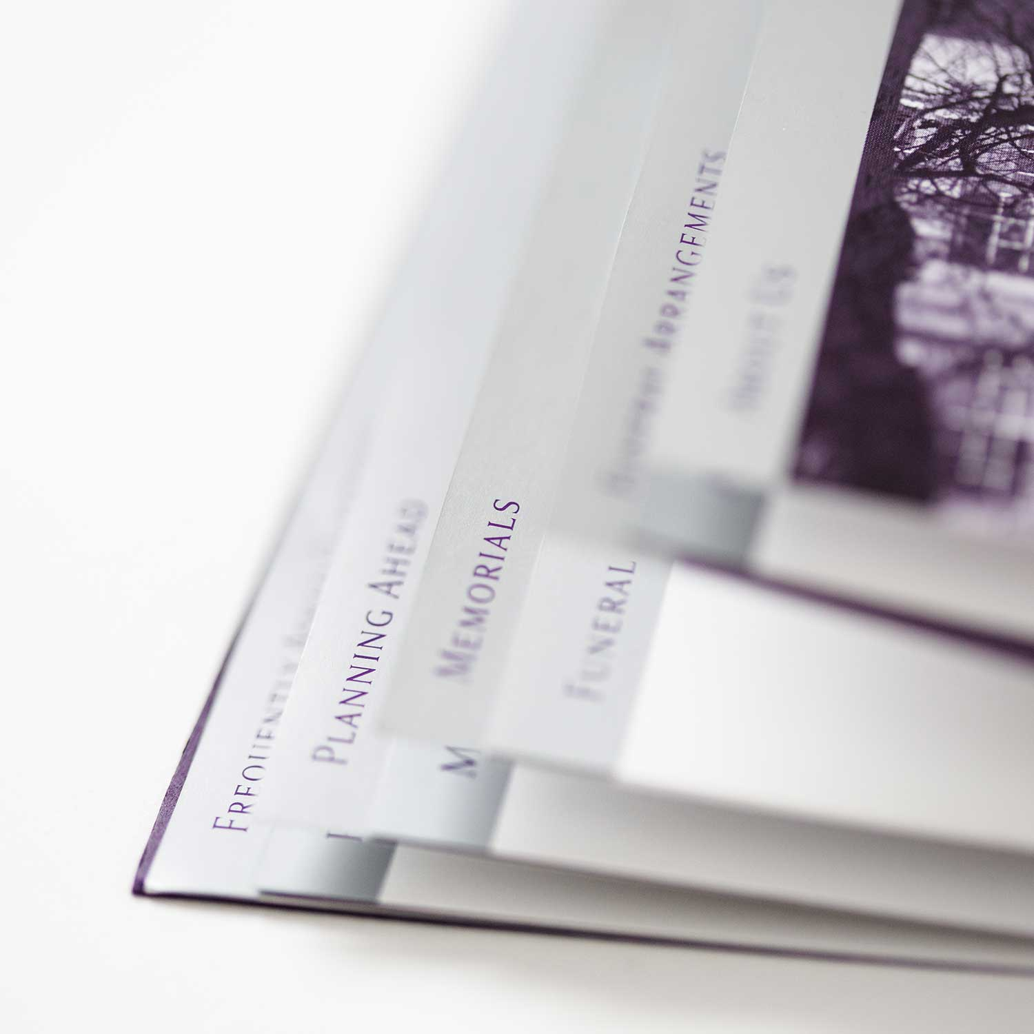 Brochure design example for funeral industry marketing