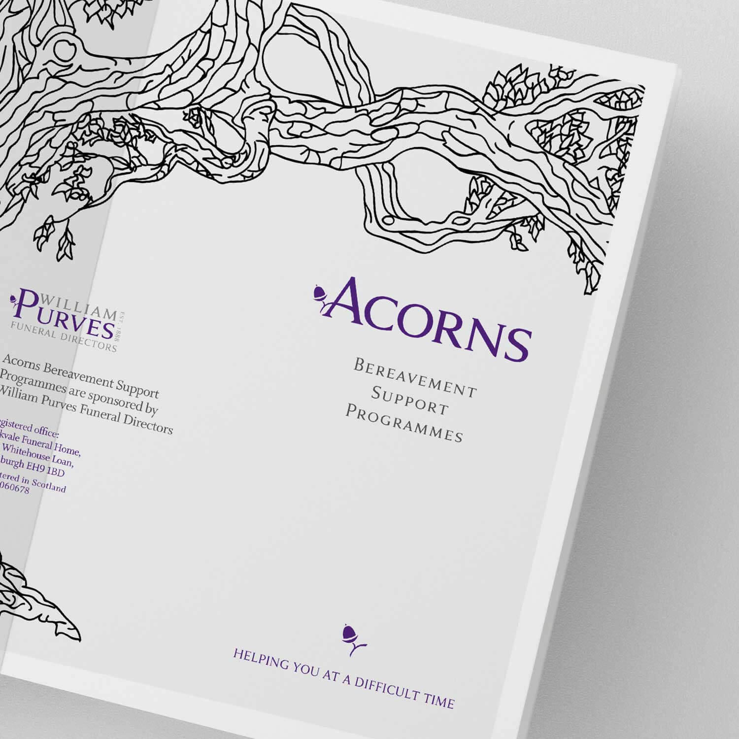 Graphic design example for funeral industry marketing