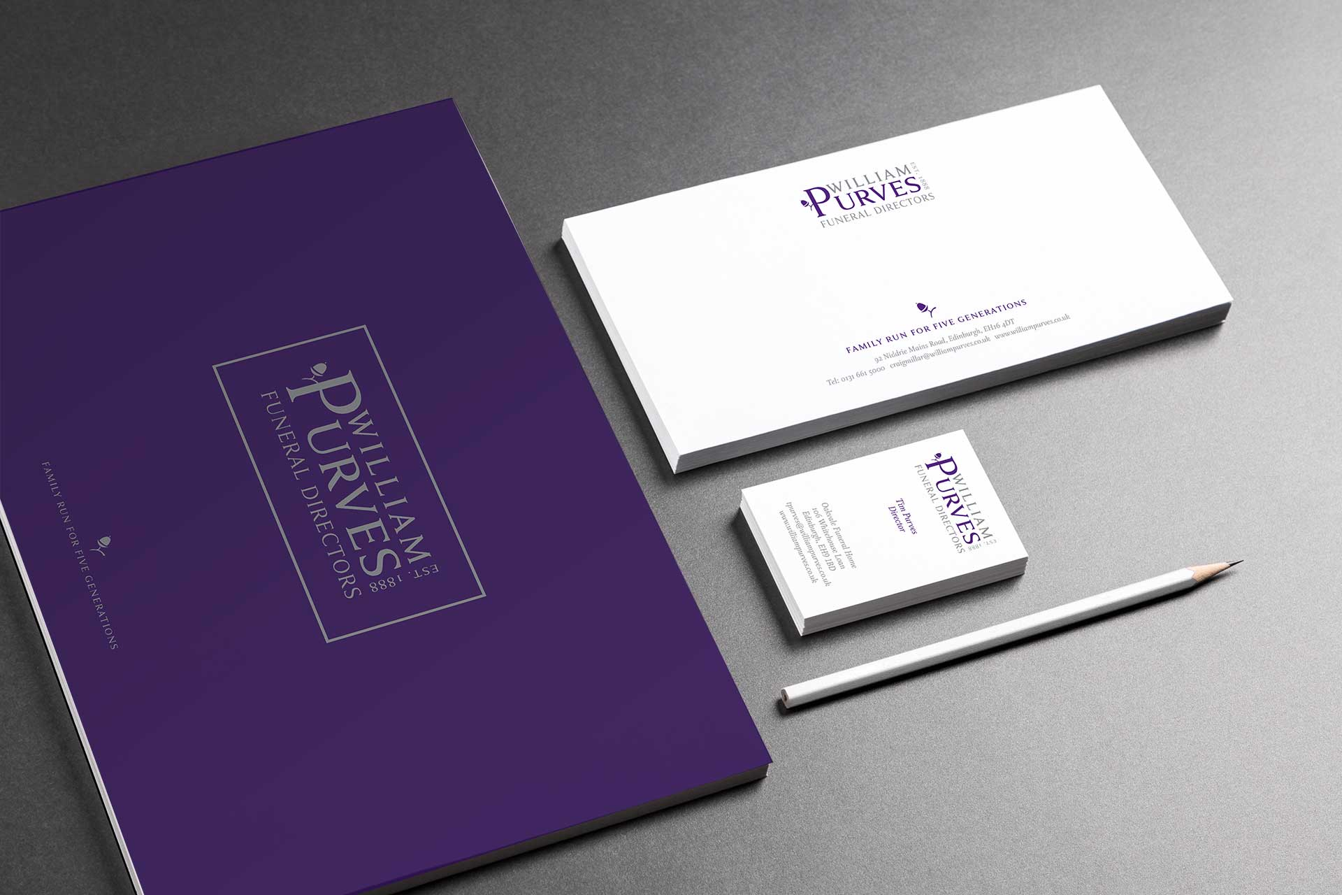 Design for print examples for funeral industry marketing