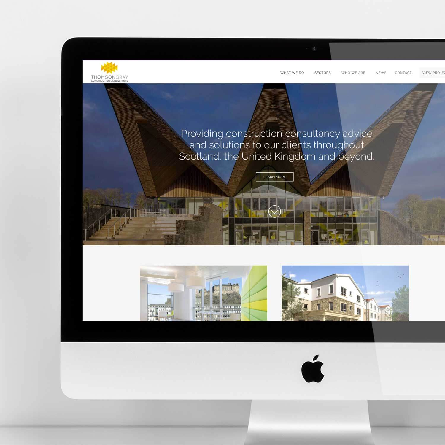 Responsive webite for construction industry marketing
