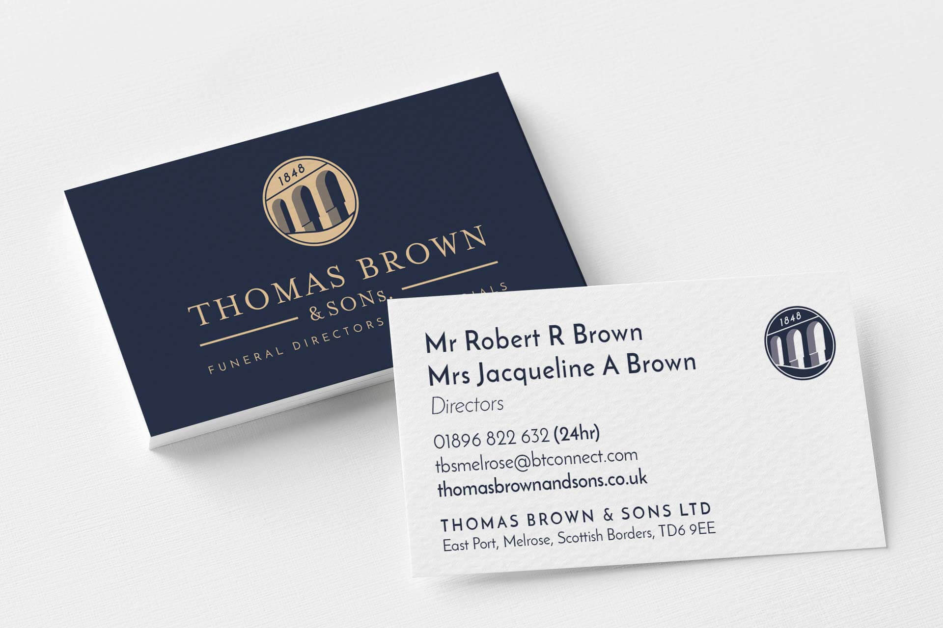 thomas brown calling cards front and back