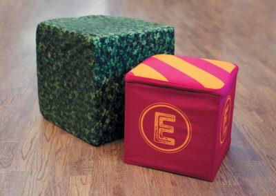 Fabric-Stool-&-Cube