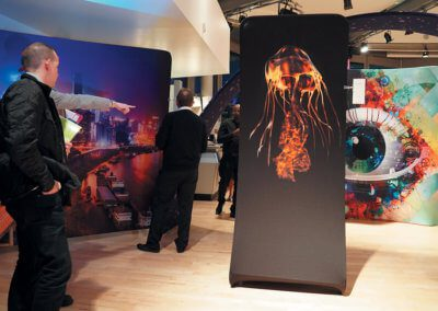 Artwork being displayed