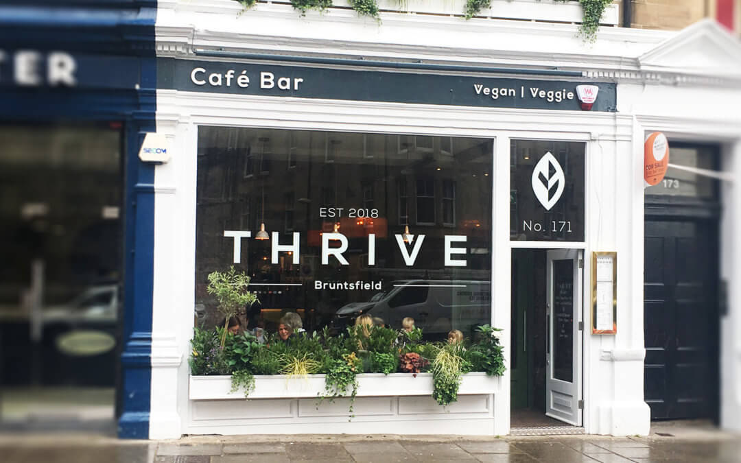 Edinburgh's newest vegan café bar, Thrive, now open!